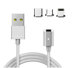 Xclusive Plus Magnetic charging cable - 0.5-1m , White