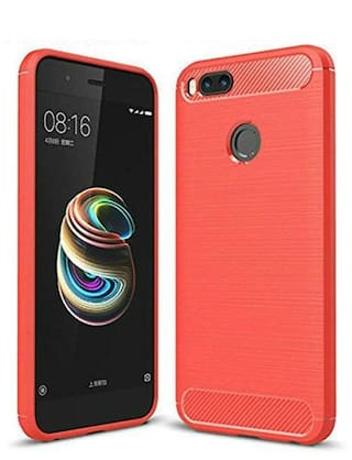 best website acc1d 635eb Buy Xiaomi Mi A1 Back Cover Soft Silicon Red Online at Low Prices in ...