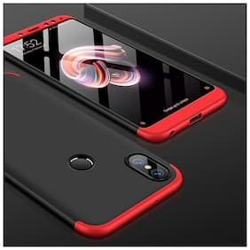 shopyholik Back Cover For Mi A2 ( Red & Black )