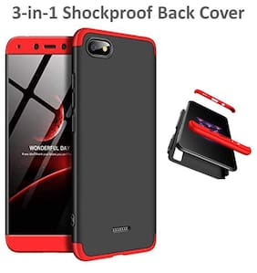shopyholik Hard Case Back Cover For Redmi 6A ( Red )