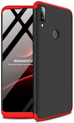 shopyholik Hard Case Back Cover For Redmi Note 7 Pro ( Black & Red )
