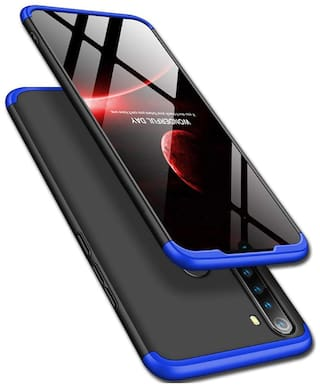 shopyholik Hard Case Back Cover For Redmi Note 8 ( Black & Blue )