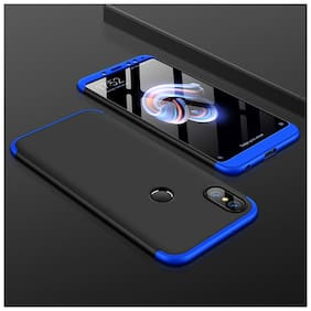 shopyholik Polycarbonate Back Cover For Redmi Y2 ( Black & Blue )