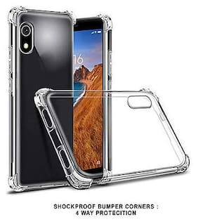 Xiaomi Redmi 7A Shock Proof Protective Anti Shock, Soft Transparent Back Case Cover [Bumper Corners with Air Cushion Technology]
