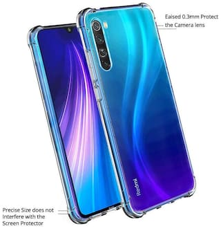 BIG CAT Silicone Back Cover For Redmi Note 8 ( Transparent )