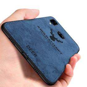EXOTIC FLOURISH Cloth & Silicone Armor Case & Back Cover For Redmi Note 7 & Redmi Note 7 Pro ( Blue )