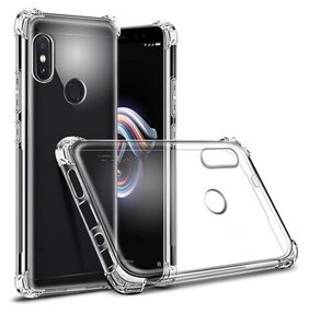Xiaomi Redmi Note 5 Pro Transparent Clear Protective Shock Proof Airbag TPU Hybrid Back Cover Case by Dealidol