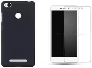 Xiaomi Redmi 3s prime back cover black with tempered glass 0.33mm 2.5D curved tempered glass