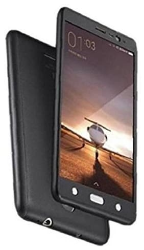 xiaomi redmi 3s 360 degree back cover with tempered glass (ipaky style)