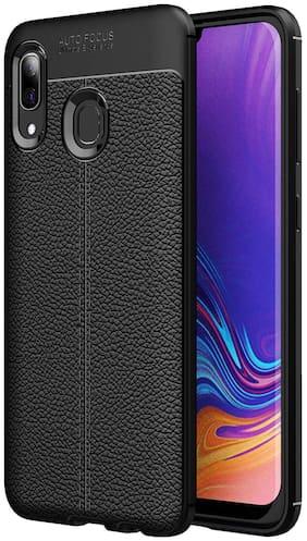VESSHIC Leather Back Cover For Xiaomi Redmi Note 7S ( Black )