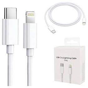 XYKOS Data & Charging 8 Pin (Lightning) Cable ( 1 m , White )