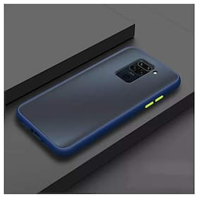 Yolke Rubber Back Cover For Redmi Note 9 Pro Max ( Blue )