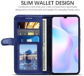Mi Redmi Note 5 Faux Leather Flip Cover By Yolke ( Blue )