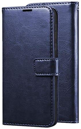 VIVO Y55L Faux Leather Flip Cover By Yolke ( Blue )