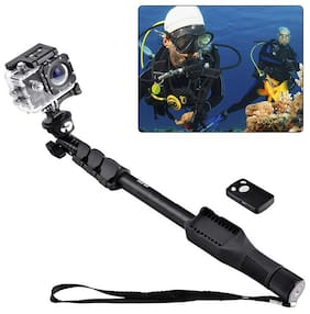 YT-1288 Bluetooth Selfie Stick for Smartphones, Action Camera and Digital Camera By Crystal Digital