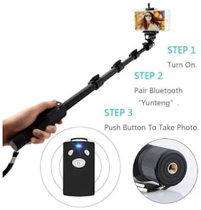 Yunteng YT-1288 Selfie Stick for Smartphone & Camera with Bluetooth (DG13)
