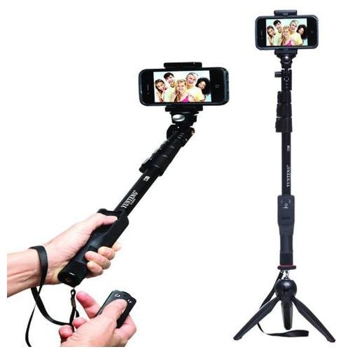 YWD_462Y_ mi 1288 Selfie Stick Black selfie stick|| Selfie stick with bluetooth remote || Bluetooth selfie stick