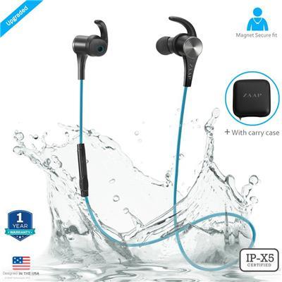 ZAAP AQUA MAGNETO Bluetooth Waterproof Headphone (Blue)