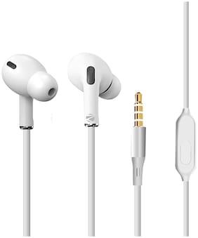 Zebronics Tulip In-Ear Wired Headphone ( White )