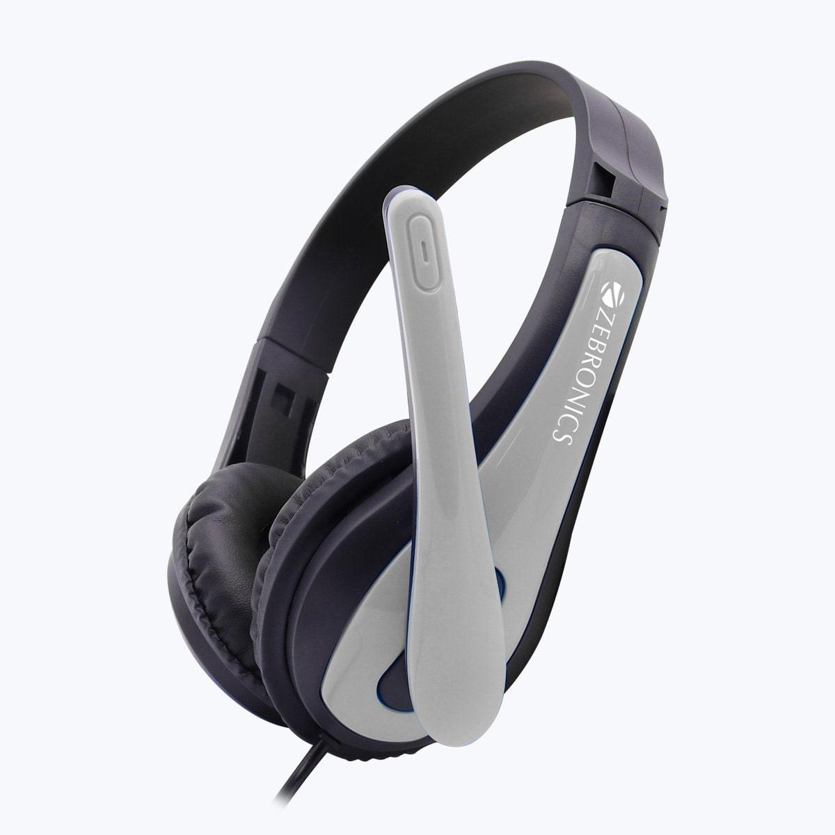 Zebronics Zeb  Bolt  gray  Over Ear Wired Headphone   Grey