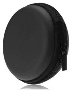 Zipper EarPhone Pouch (BLACK)