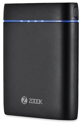 Zoook ZP-PB10DC 10000mAh Li-Ion Premium Ultra-Fast Dual USB Power Bank (Black)