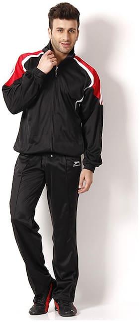 Shiv Naresh Black Polyester Tracksuit