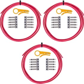 3-Pack LAVA Cable Tightrope Solder-Free Patch Kit (Red)