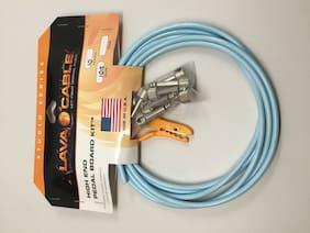 Lava LCPBKTR High End Pedal Board Right-Angle Guitar Cable Kit 10' Carolina Blue