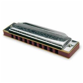 Suzuki 1072-G Folkmaster 10 Hole Diatonic Harmonica with Hard Case, Key of G