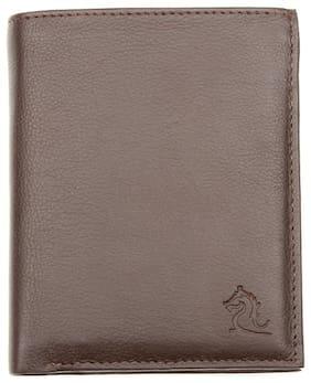 Kara Brown Color Leather Wallet For Men