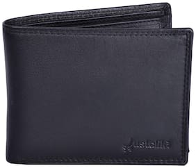 Justclik.Net Black Leather Wallet