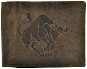Hawai Brown Crafted Leather Wallet