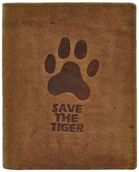 Hawai Save The Tiger Hunter Leather Note Case For  Man