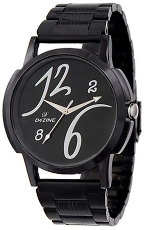 Dezine Black Chain Watch
