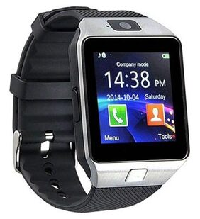 DZ09  Silver Smart Watch for Men;Women with Camera Feature