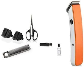 Bazaartrick Bt-216-d45 Mustache & beard trimmer For Men ( Orange )