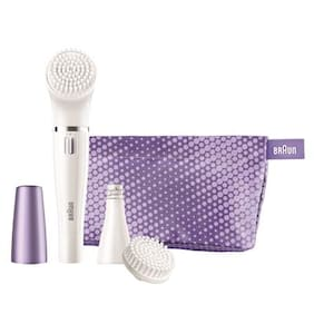 Braun Face 832-s Gift set   Facial cleansing brush & facial epilator with 3 extras including a sensitive brush and beauty pouch