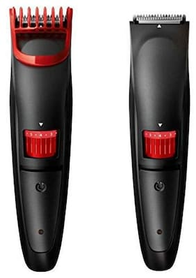 CZECH CZ - 2019 Hair And Beard Usb Cordless Rechargeable Trimmer For Men Shaving ( Red )