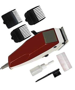 DOMAZO KM-666 Hair Clipper For Men ( Red , Direct AC Powered )