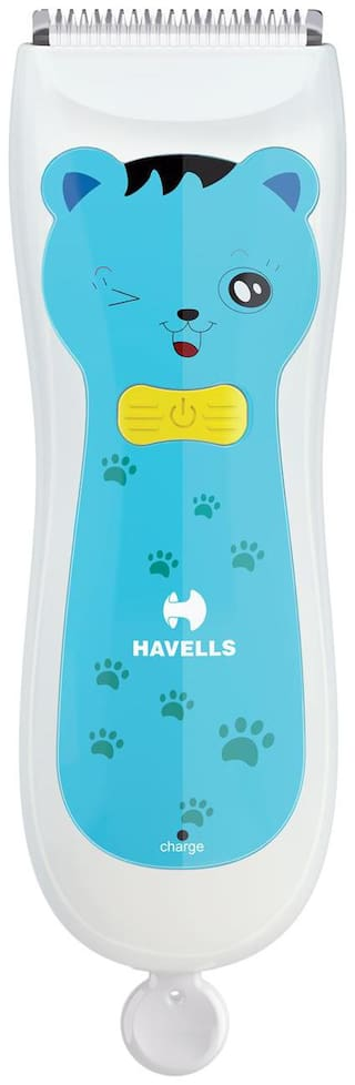 Havells BC1001 Rechargeable Baby Hair Clipper (Blue)