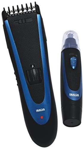 Inalsa Beard and Hair Trimmer Trim and Style (Black/Blue)