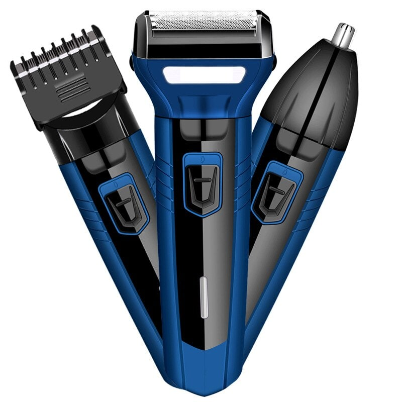 Innova 3 In1 Men'S Electric Shaver Clean Face Trimmer Rechargeable