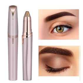 INNOVA Electric flawless eyebrow trimmer brows Epilators ( Pink & White )