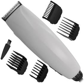 JM 267A Kamai Men Corded Electric Non Rechargeable Beard Mustache Hair Trimmer  (White)