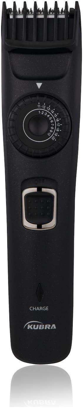 Kubra KB-1001 Beard Trimmer For Unisex ( Black , Rechargeable Battery )