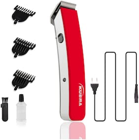 Kubra KB-1046 Rechargeable Beard and Hair Trimmer For Men (Red)