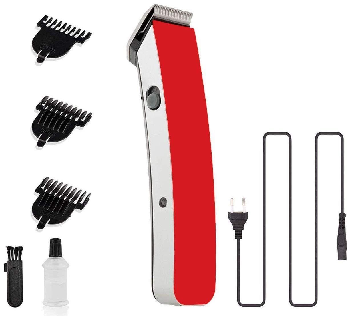 Meherma NS-216 Beard and Hair Trimmer for Men (Red)