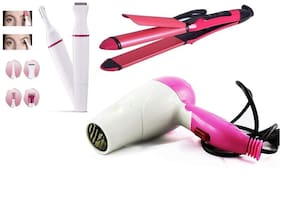 NOVA CLUB Beauty combo clubn 2009 Hair Straightener ( Pink )