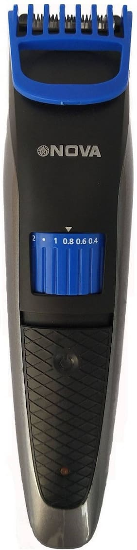 Nova NHC-2019 Beard & Hair Trimmer for Men (Black;Blue)